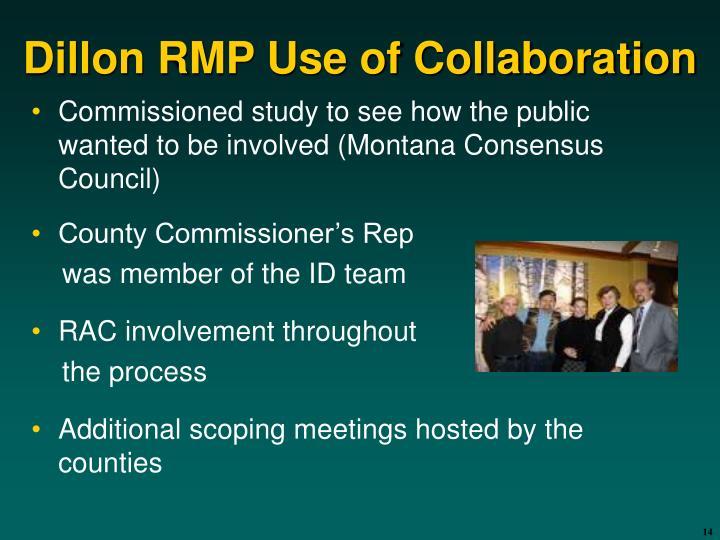 Dillon RMP Use of Collaboration
