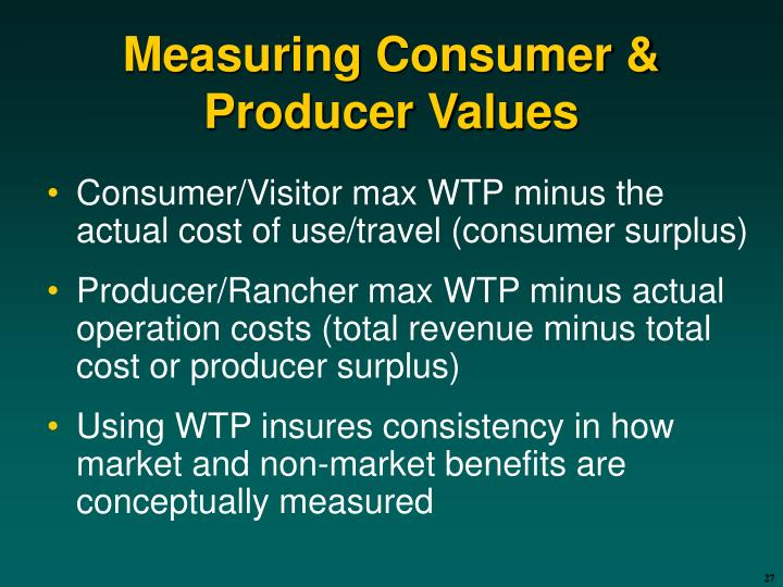 Measuring Consumer & Producer Values