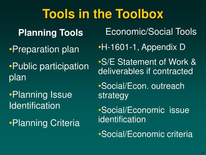 Planning Tools