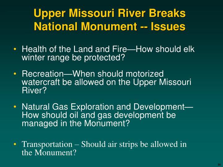 Upper Missouri River Breaks