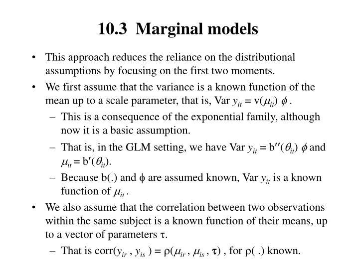 10.3  Marginal models