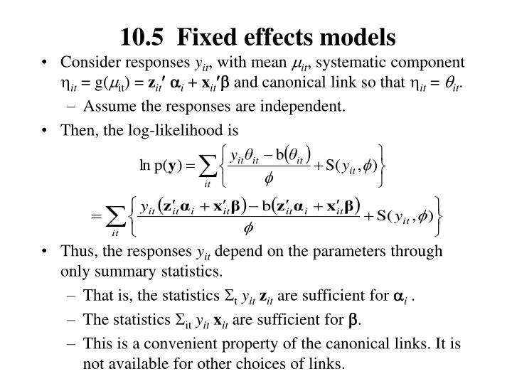 10.5  Fixed effects models