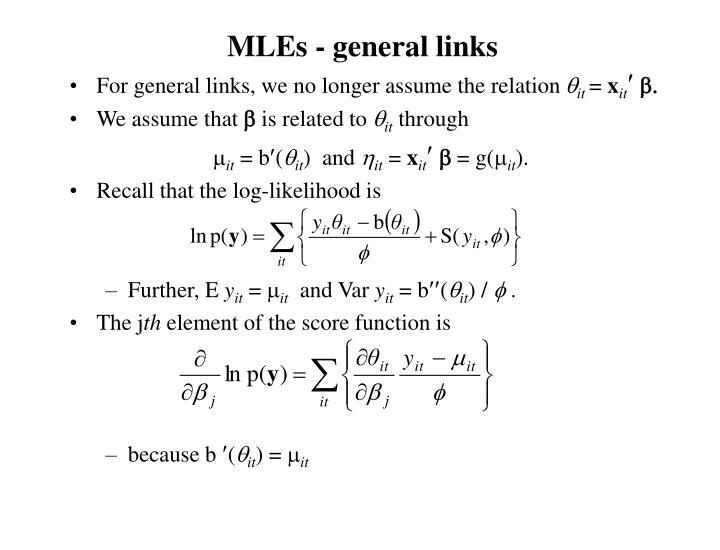 MLEs - general links