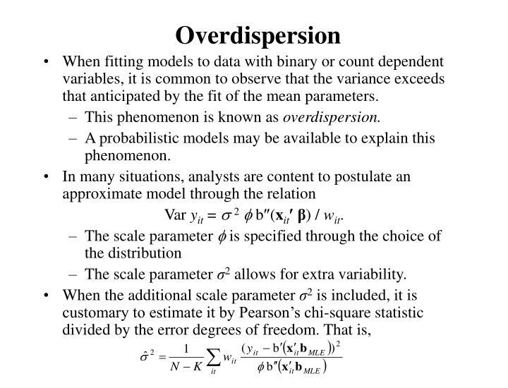 Overdispersion