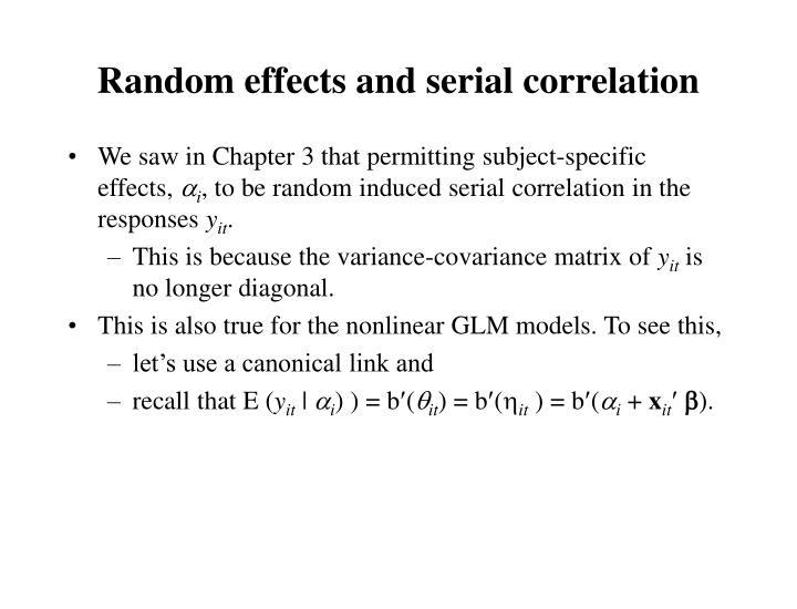 Random effects and serial correlation