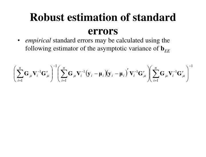 Robust estimation of standard errors