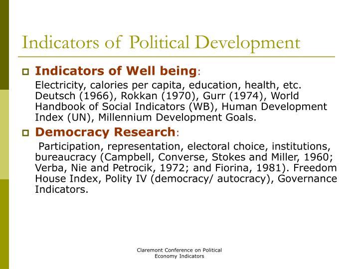 Indicators of Political Development