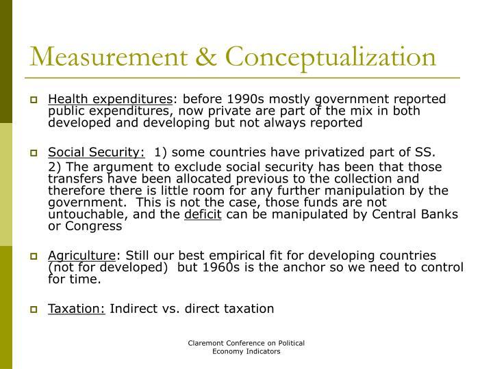 Measurement & Conceptualization