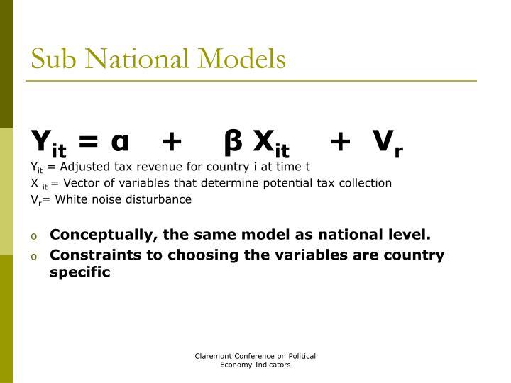 Sub National Models