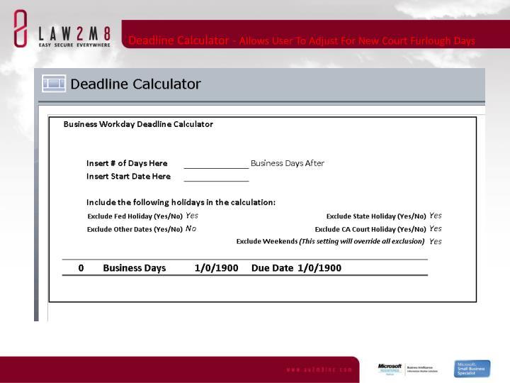 Deadline Calculator -