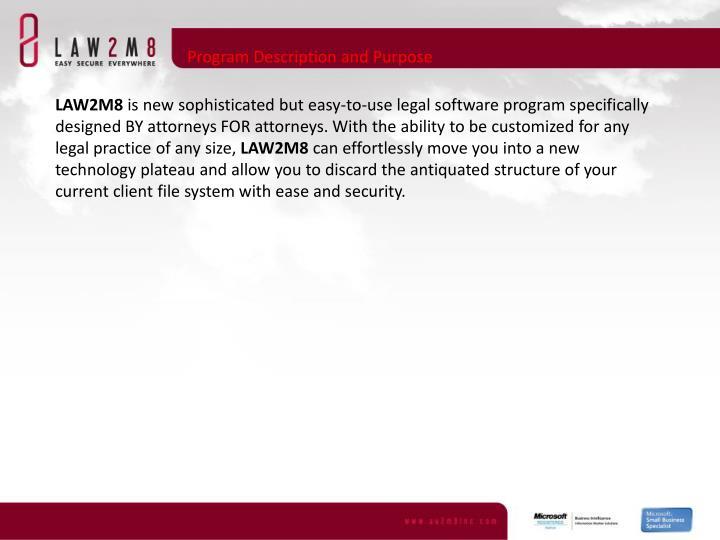Program Description and Purpose