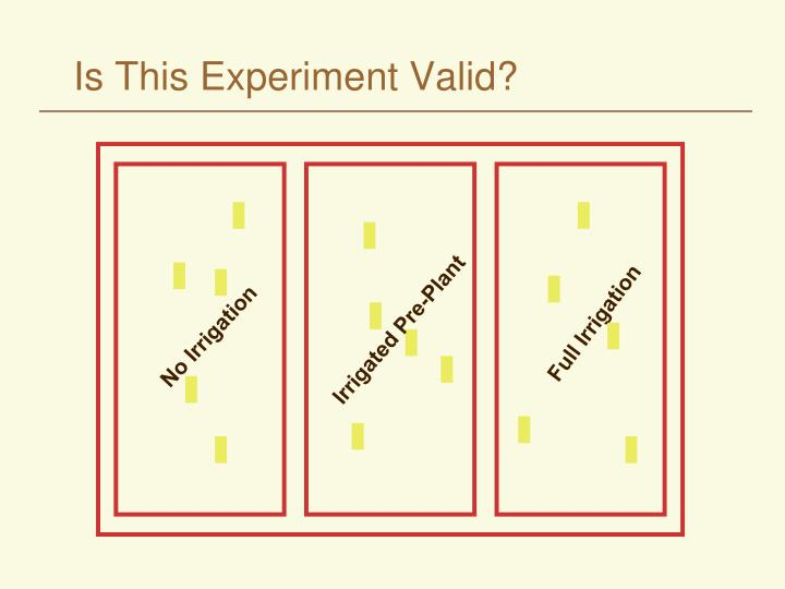 Is This Experiment Valid?