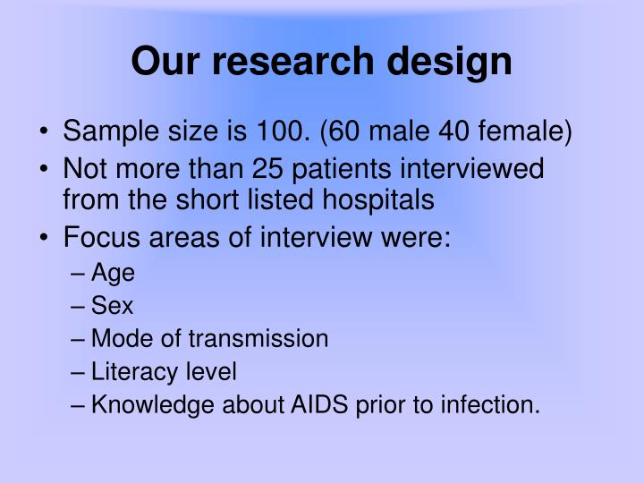 Our research design