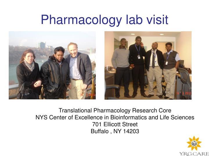 Pharmacology lab visit