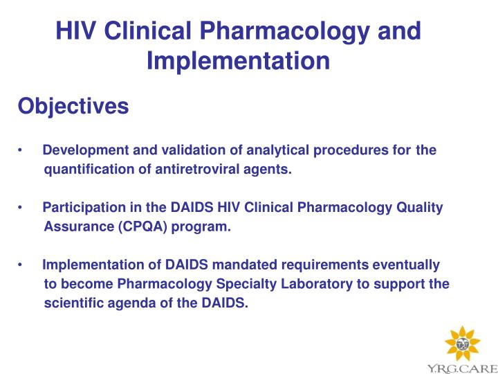 HIV Clinical Pharmacology and Implementation