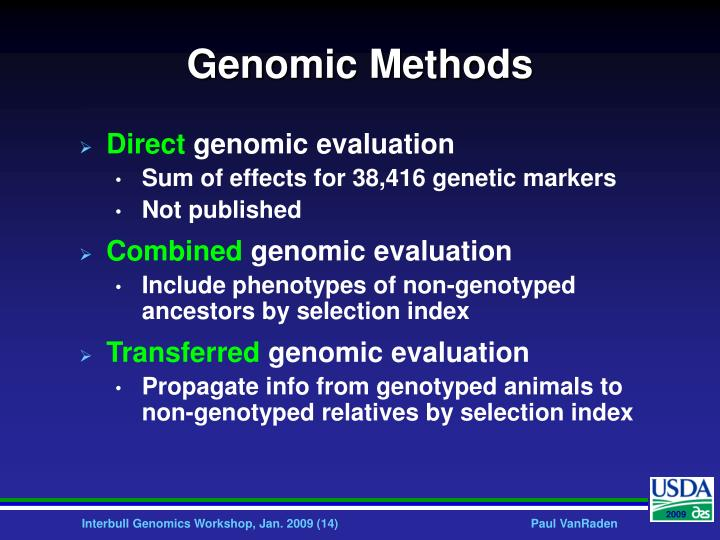 Genomic Methods