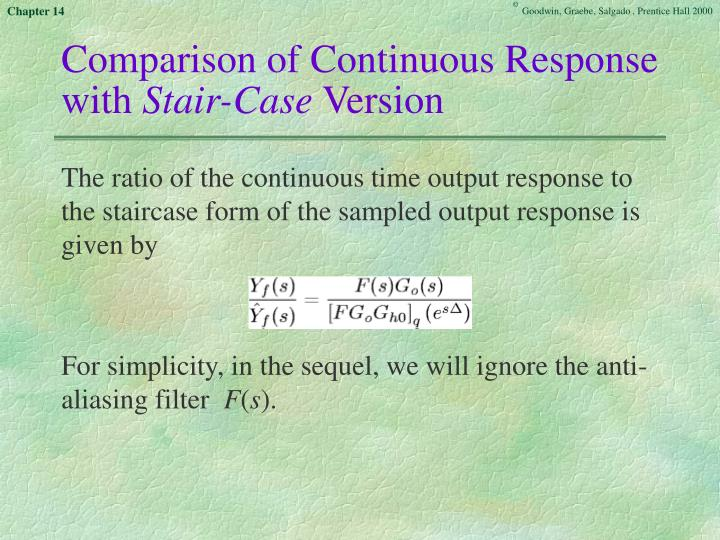 Comparison of Continuous Response with