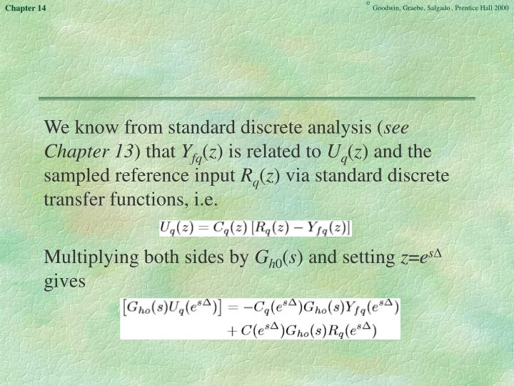We know from standard discrete analysis (