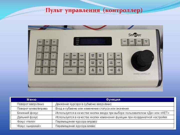 Пульт  управления  (контроллер)