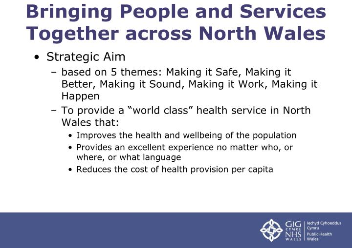 Bringing People and Services Together across North Wales