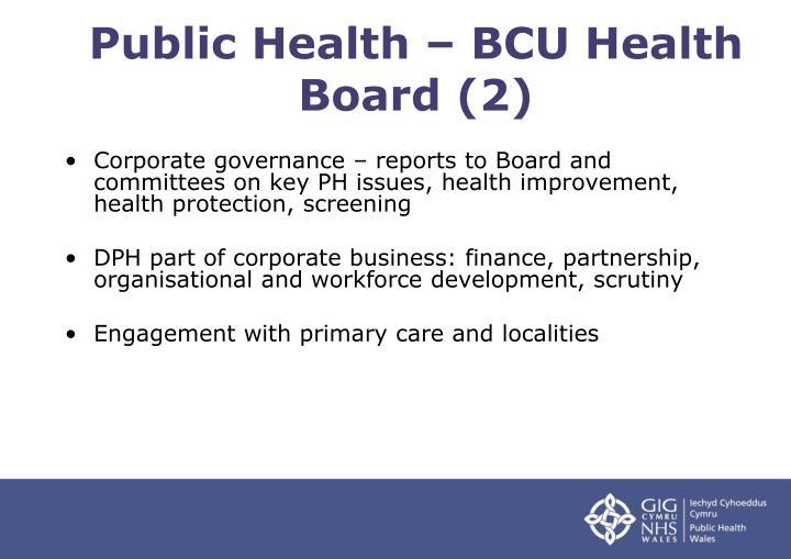 Public Health – BCU Health Board (2)