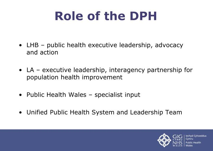 Role of the DPH