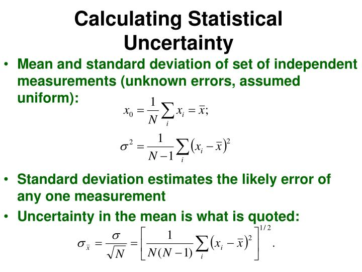 Calculating Statistical Uncertainty