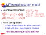 differential equation model
