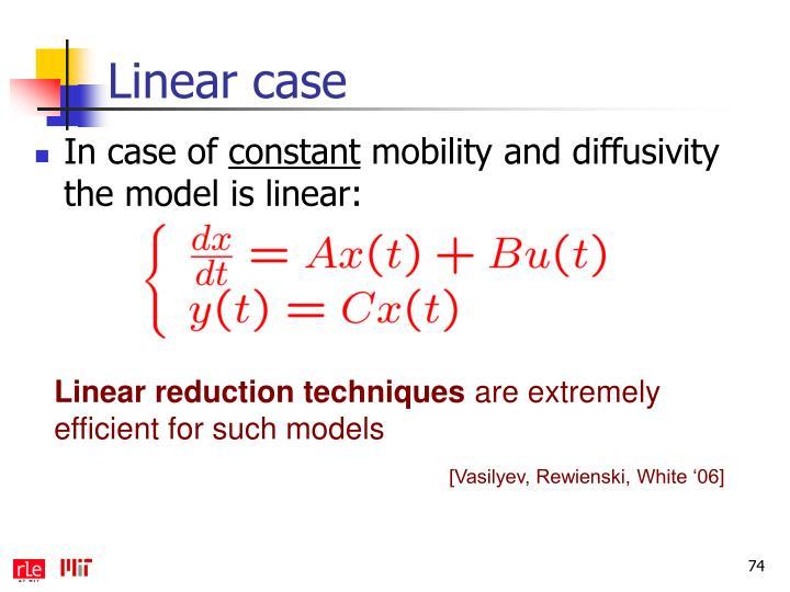 Linear case