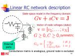 linear rc network description