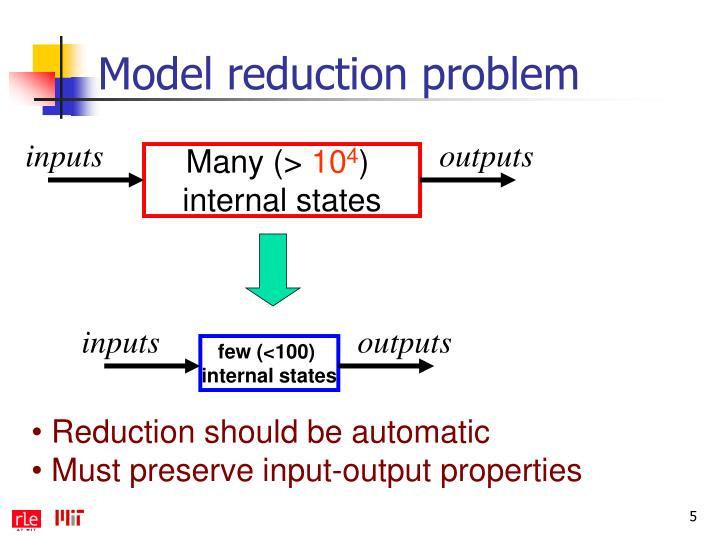 Model reduction problem