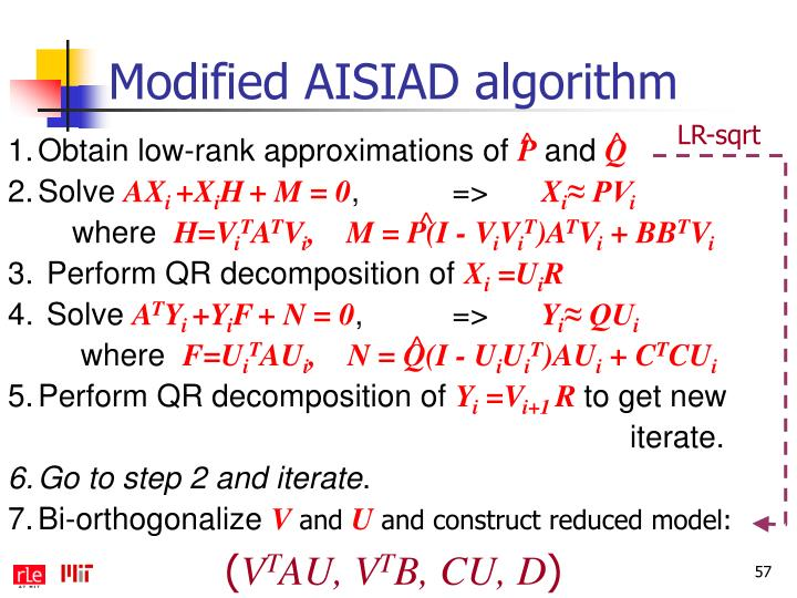 Modified AISIAD algorithm