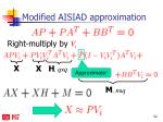 modified aisiad approximation