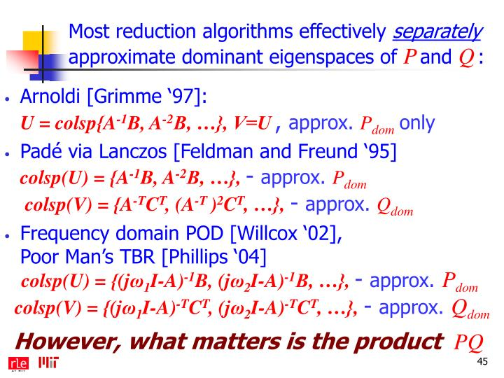 Most reduction algorithms effectively