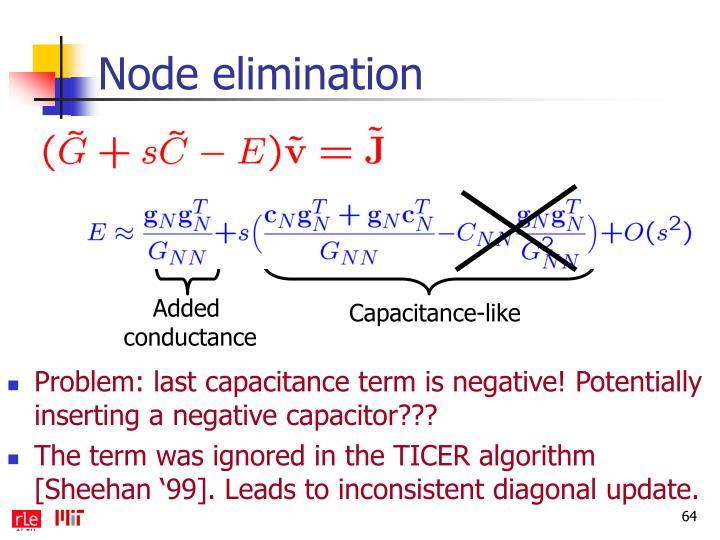Node elimination