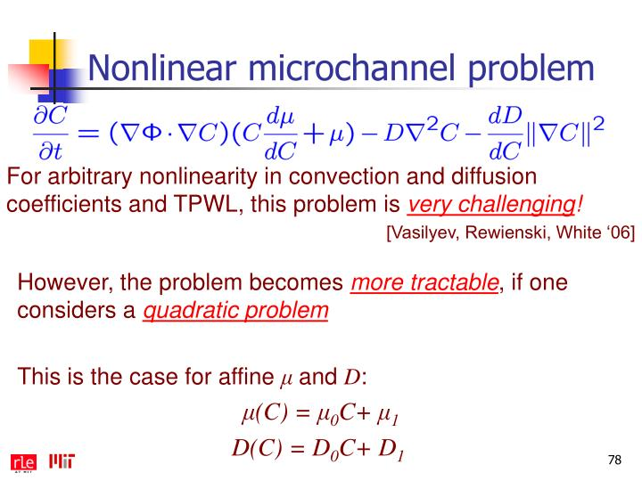 Nonlinear microchannel problem