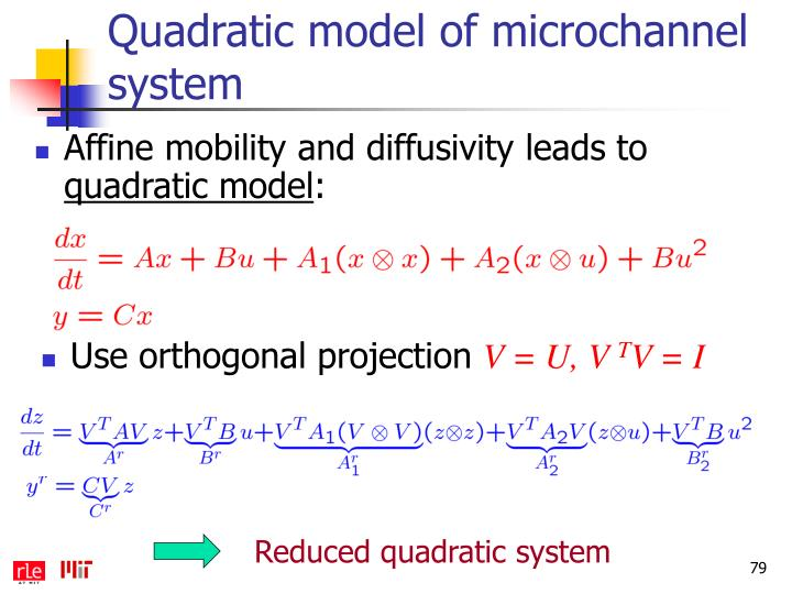 Quadratic model of microchannel system