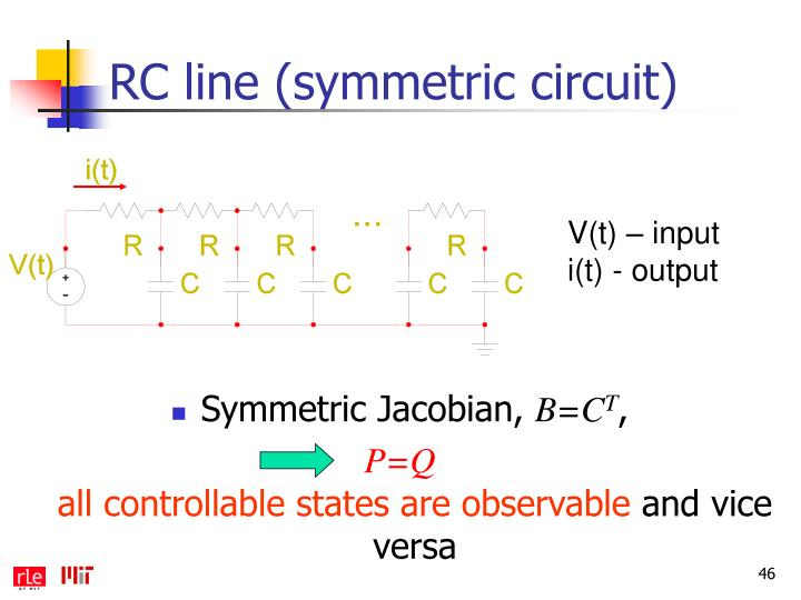 RC line (symmetric circuit)