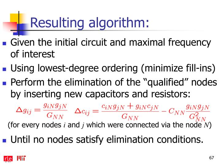 Resulting algorithm: