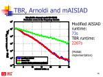 tbr arnoldi and maisiad