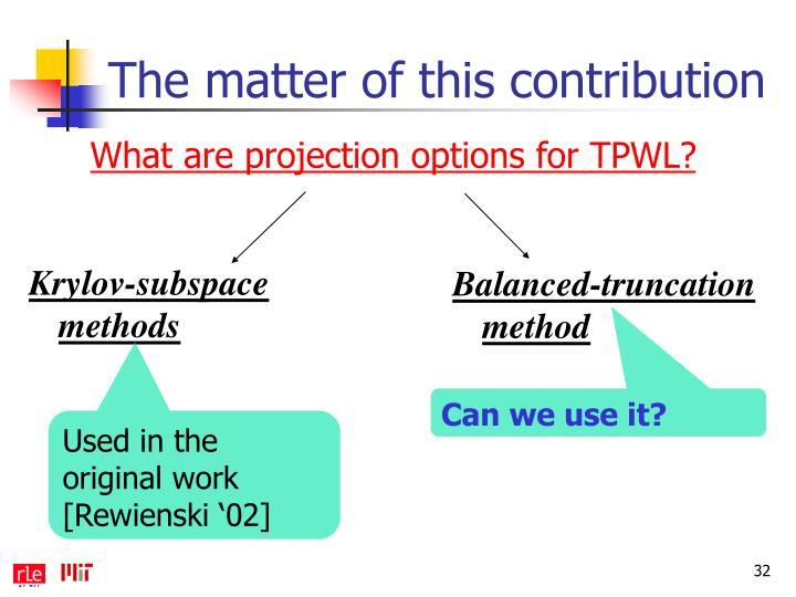 Krylov-subspace methods