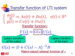 transfer function of lti system