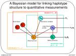 a bayesian model for linking haplotype structure to quantitative measurements
