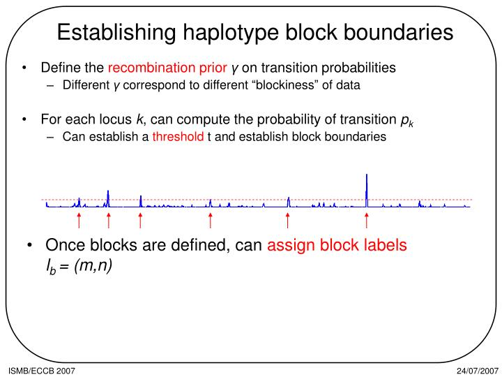 Establishing haplotype block boundaries