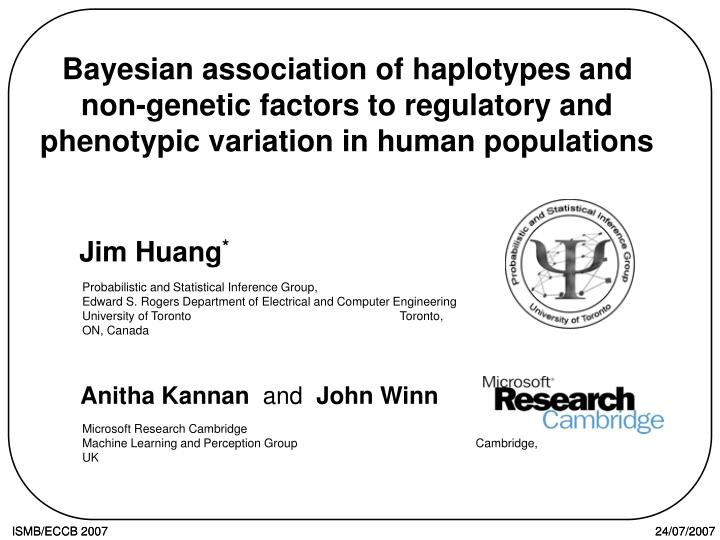 Bayesian association of haplotypes and non-genetic factors to regulatory and phenotypic variation in...