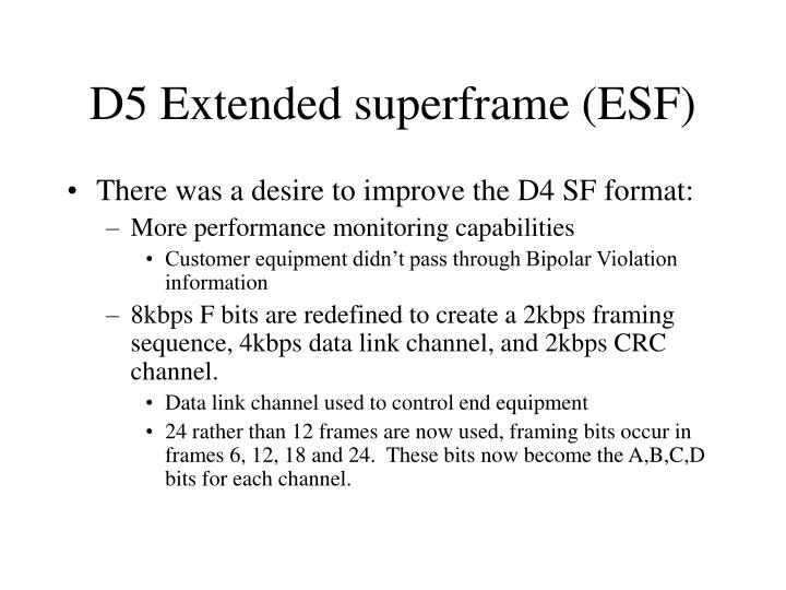 D5 Extended superframe (ESF)
