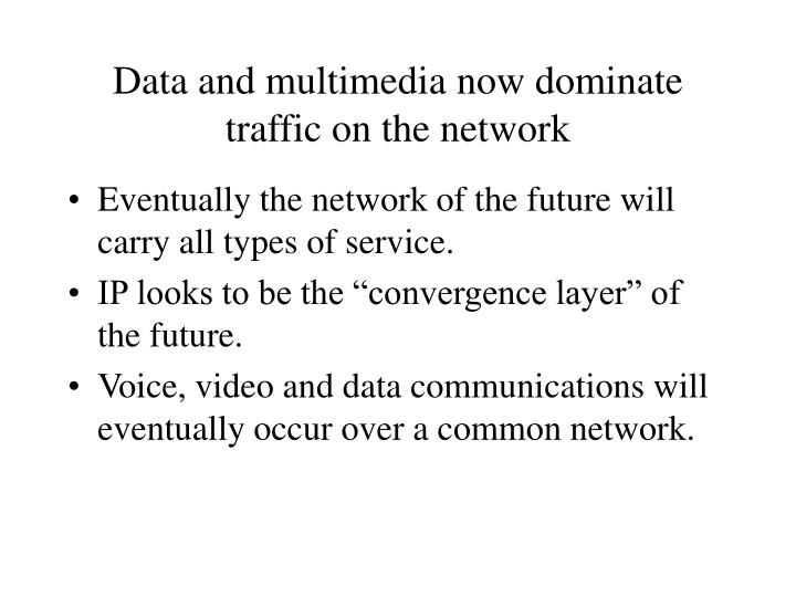 Data and multimedia now dominate traffic on the network