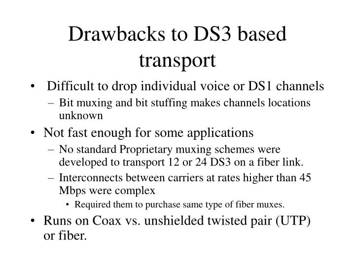 Drawbacks to DS3 based transport