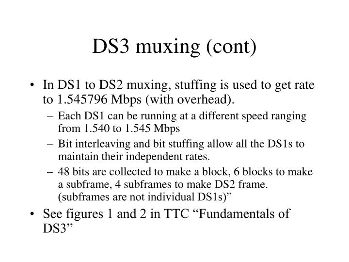 DS3 muxing (cont)