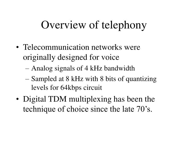 Overview of telephony